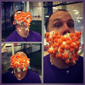 Cheeseballs + Shaving cream